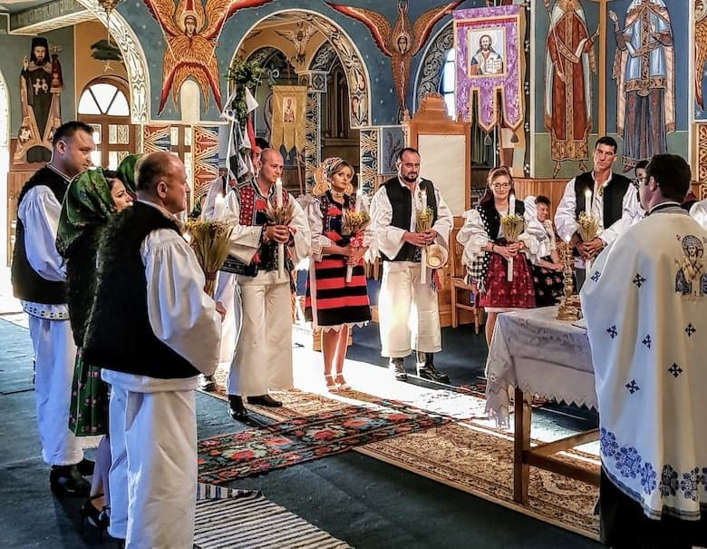 Traditional wedding in Maramures