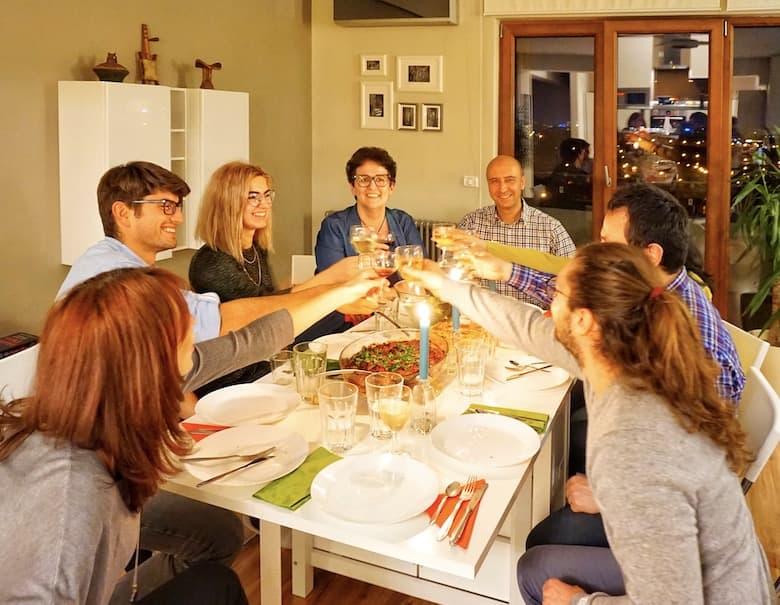 Social dinner in Bucharest