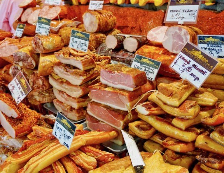 Organic food market in Bucharest