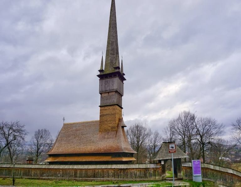 Wooden church in Surdesti