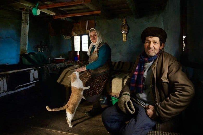 Romanian peasant family